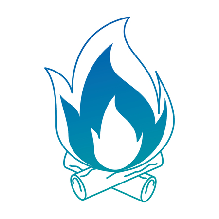 fire flame isolated icon vector illustration design Banco de Imagens - 94439509