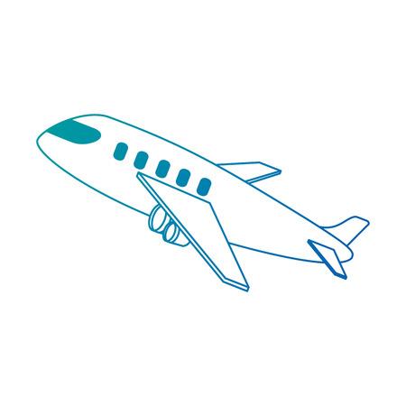 airplane taking off icon vector illustration design