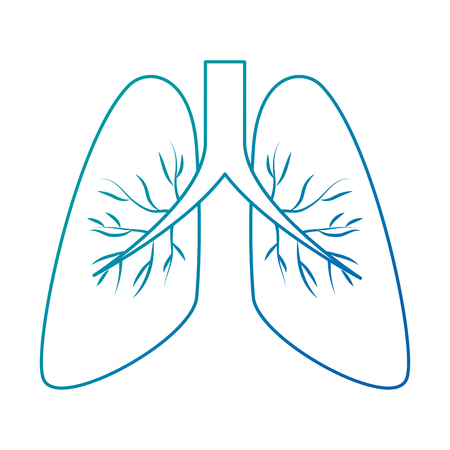 Polmoni umani isolato icona illustrazione vettoriale illustrazione Archivio Fotografico - 94440447