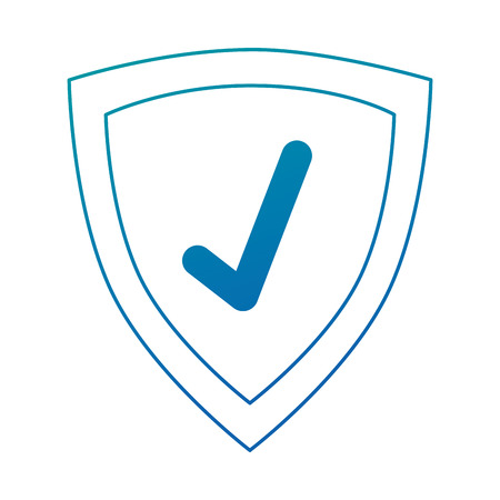 shield with check icon vector illustration design