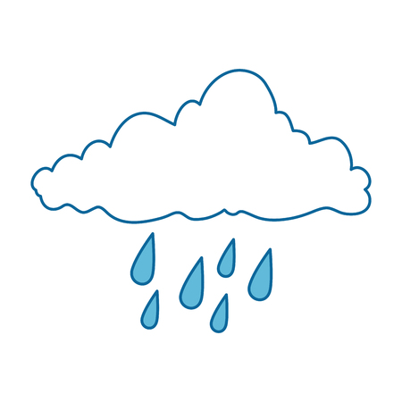 weather cloud rainy icon vector illustration design Illustration