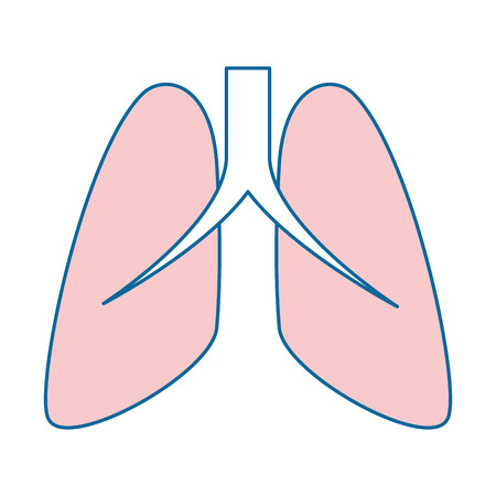 Human lungs isolated icon  illustration design 向量圖像