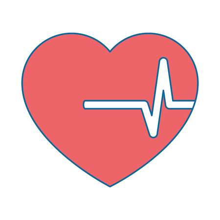 Coeur cardio isolé icône vector illustration design Banque d'images - 94440860