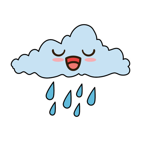 weather cloud rainy character vector illustration design