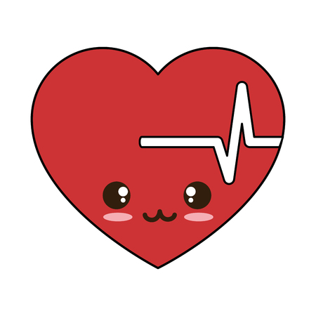 heart cardio character vector illustration design Ilustrace