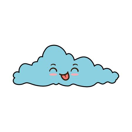 weather cloud kawaii character vector illustration design Illustration