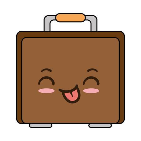 スーツケースバッグ キャラクターベクトルイラストデザイン  イラスト・ベクター素材