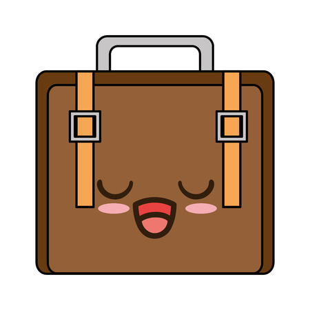 suitcase bag character vector illustration design