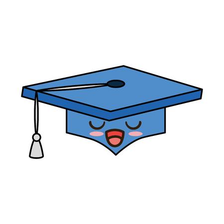 graduation hat character vector illustration design Ilustração
