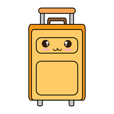 suitcase bag character vector illustration design