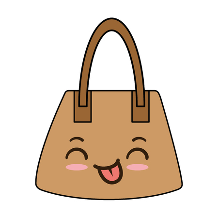 handbag female character vector illustration design