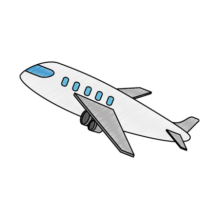 airplane taking off icon vector illustration design Banco de Imagens - 94442788