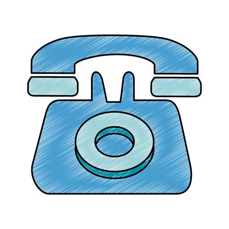 telephone service isolated icon vector illustration design Illusztráció