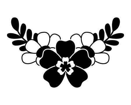 꽃과 나뭇잎 자연 봄 장식 벡터 일러스트 레이 션