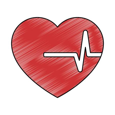 Hart cardio geïsoleerde pictogram vector illustratie ontwerp Stockfoto - 94446225