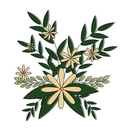 cute floral decoration icon vector illustration design