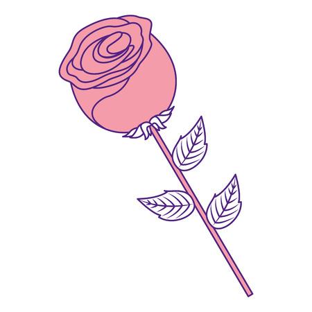 flower stem petal leaves natural spring image vector illustration pink image design Illusztráció
