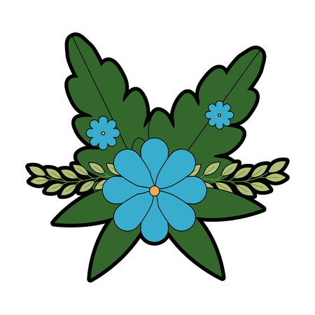 Flower  decoration icon vector illustration design