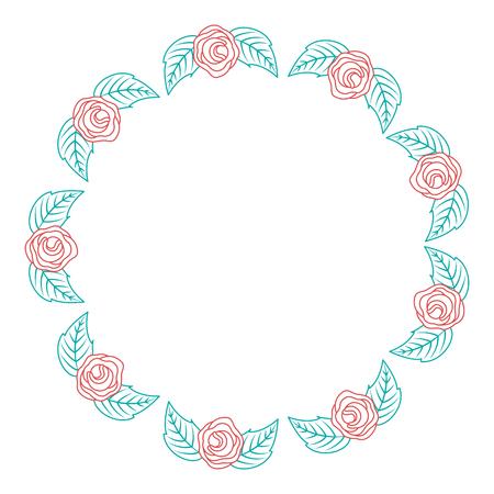 decoratie drie stengel bloemblad bloemblad botanische vector illustratie kleur lineair ontwerp Stock Illustratie