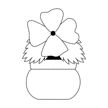Cute flower decorative in pot vector illustration design Stock Vector - 94487608