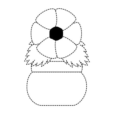 Leuke bloem decoratief in ontwerp van de potten het vectorillustratie
