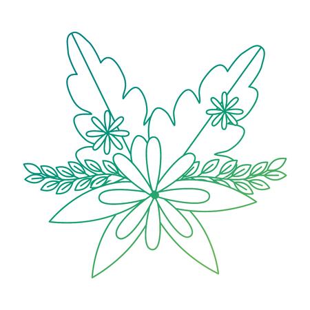 Cute floral decoration icon vector illustration design Illustration