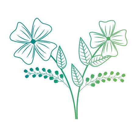 かわいい花飾りアイコンベクトルイラストデザイン