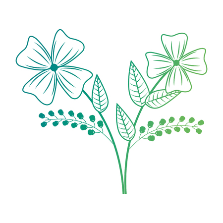cute floral decoration icon vector illustration design
