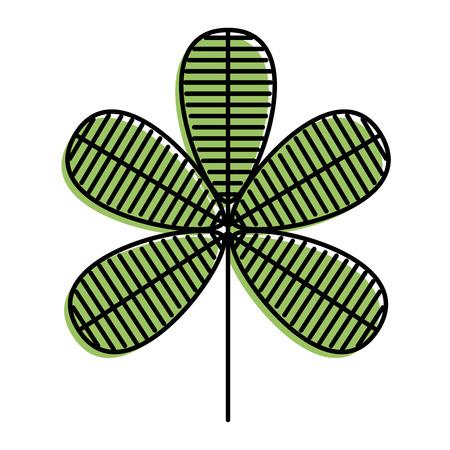 Flower natural decoration ornament spring icon vector illustration Çizim