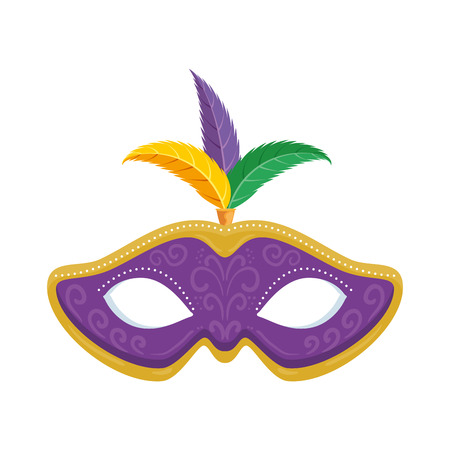 carnival mask with feathers vector illustration design Stock Vector - 94546483