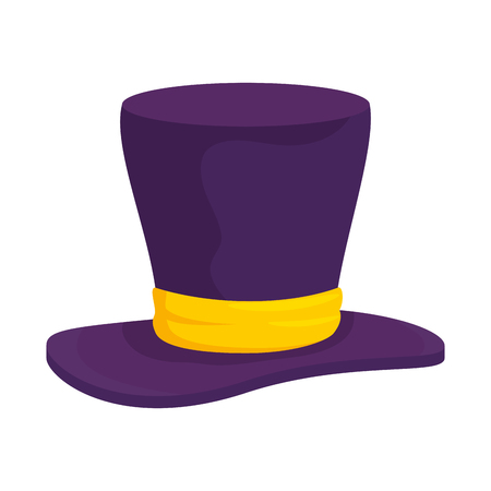 Gentleman hat cylinder icon vector illustration design Illustration