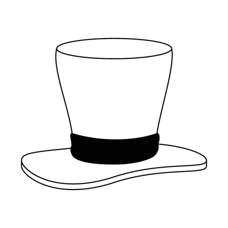 Gentleman hat cylinder icon vector illustration design Illustration