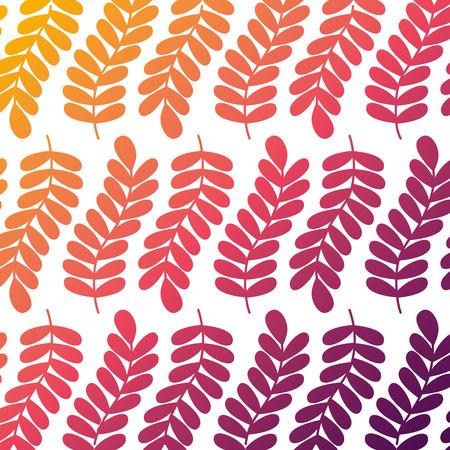 branch leaves foliage frond natural pattern vector illustration Banco de Imagens - 94467974