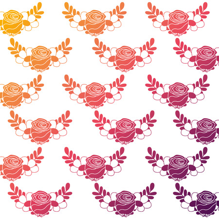 Zarte nahtlose florale Muster Blume Blätter Vektor-Illustration Farbe Farbverlauf Hintergrundbild Standard-Bild - 94467977
