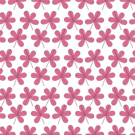 seamless flower stem spring floral pattern vector illustration pink image background Illustration