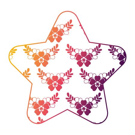 귀여운 스타 패턴 섬세한 원활한 꽃 잎 벡터 일러스트 레이 션 밝은 그라디언트 색상 디자인 스톡 콘텐츠 - 94470665