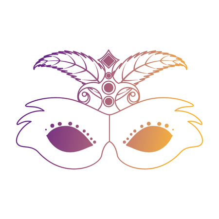 carnival mask with feathers vector illustration design Stockfoto - 94472013