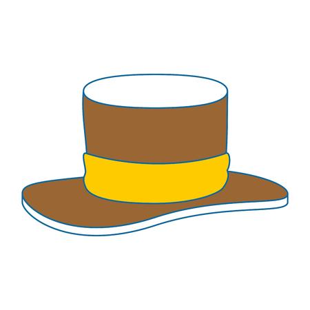 gentleman hat cilinder icon vector illustration design
