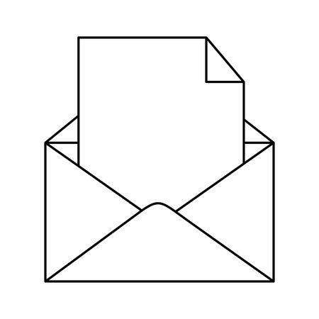 envelope mail isolated icon vector illustration design Çizim