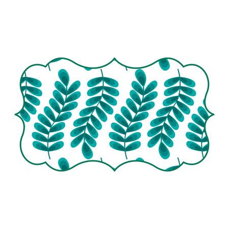 vintage label with pattern seamless branch spring natural vector illustration