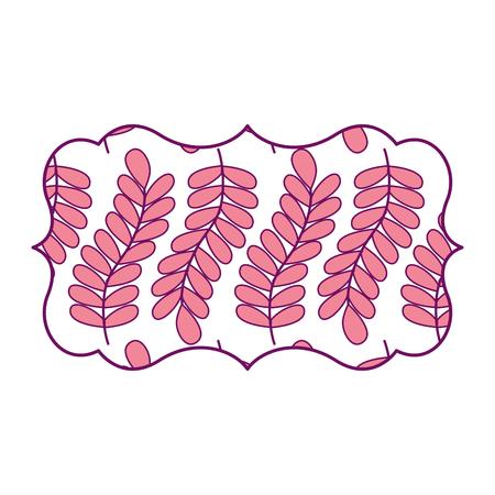 패턴으로 빈티지 레이블 원활한 분기 봄 자연 벡터 일러스트 레이 션 핑크 이미지 디자인.