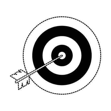 target with arrow icon vector illustration design Illustration
