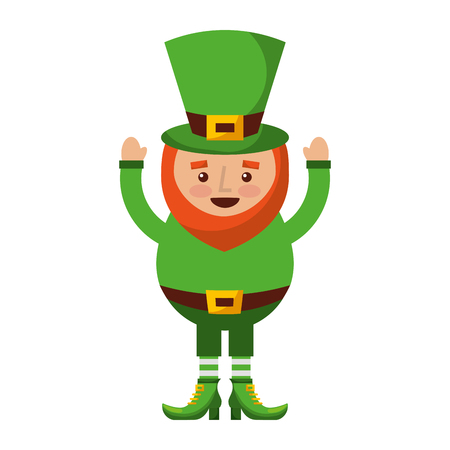happy leprechaun cartoon st patricks day character vector illustration