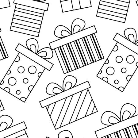 seamless pattern decoration celebration gift boxes vector illustration Stok Fotoğraf - 94473958