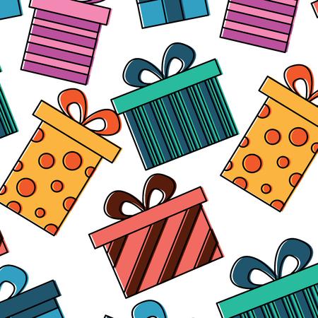 seamless pattern decoration celebration gift boxes vector illustration Фото со стока - 94488117