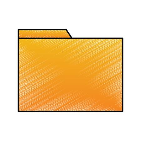 Folder file documente archive office technology vector illustration drawing design