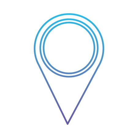 Kaartaanwijzer locatie navigatie pictogram vector illustratie blauwe en paarse lijn ontwerp Stock Illustratie