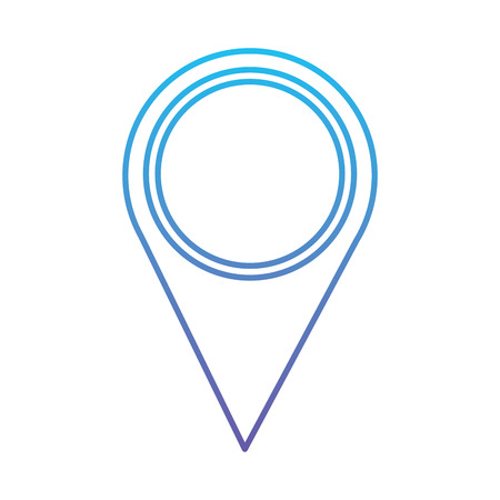 Map pointer location navigation icon vector illustration blue and purple line design