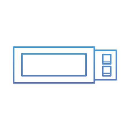 USB flash memory backup technology icon vector illustration blue and purple line design