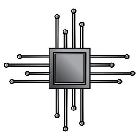 マザーボード回路マイクロプロセッサチップテクノルギーベクトル図  イラスト・ベクター素材